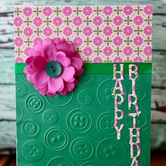 Buttons Birthday Card