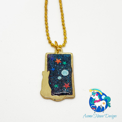 Galaxy Cat Necklace