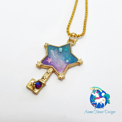 Galaxy Star Key Necklace