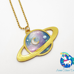 Galaxy Planet Necklace