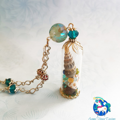 Mermaid's Treasure Shell Terrarium Necklace