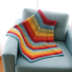 Funky rainbow poncho - made to order
