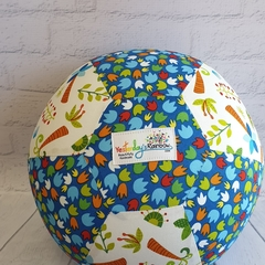 Balloon Ball: Tropical Dino print in Blue