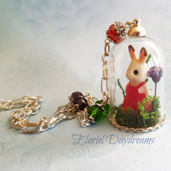 Woodland Rabbit Terrarium Necklace