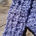 Crocheted headband, collar or cuff.  made from purple wool and cotton