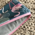 Beautiful flamingos purse
