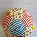 Balloon Ball: Beach Balls, Blue top with Yellow Taggies.