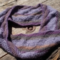 textured mobius collar.  handknit from wool/soy yarn