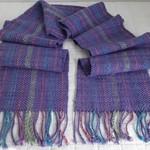 Fine Merino Pure Wool Scarf,  Handwoven, Lilac