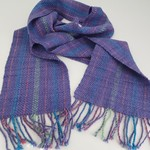 Fine Merino Pure Wool Scarf,  Handwoven, Lilac