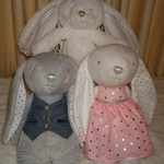 Personalised Plush Toy Rabbit.