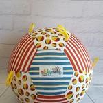 Balloon Ball: Beach Balls, Blue top with Yellow Taggies.