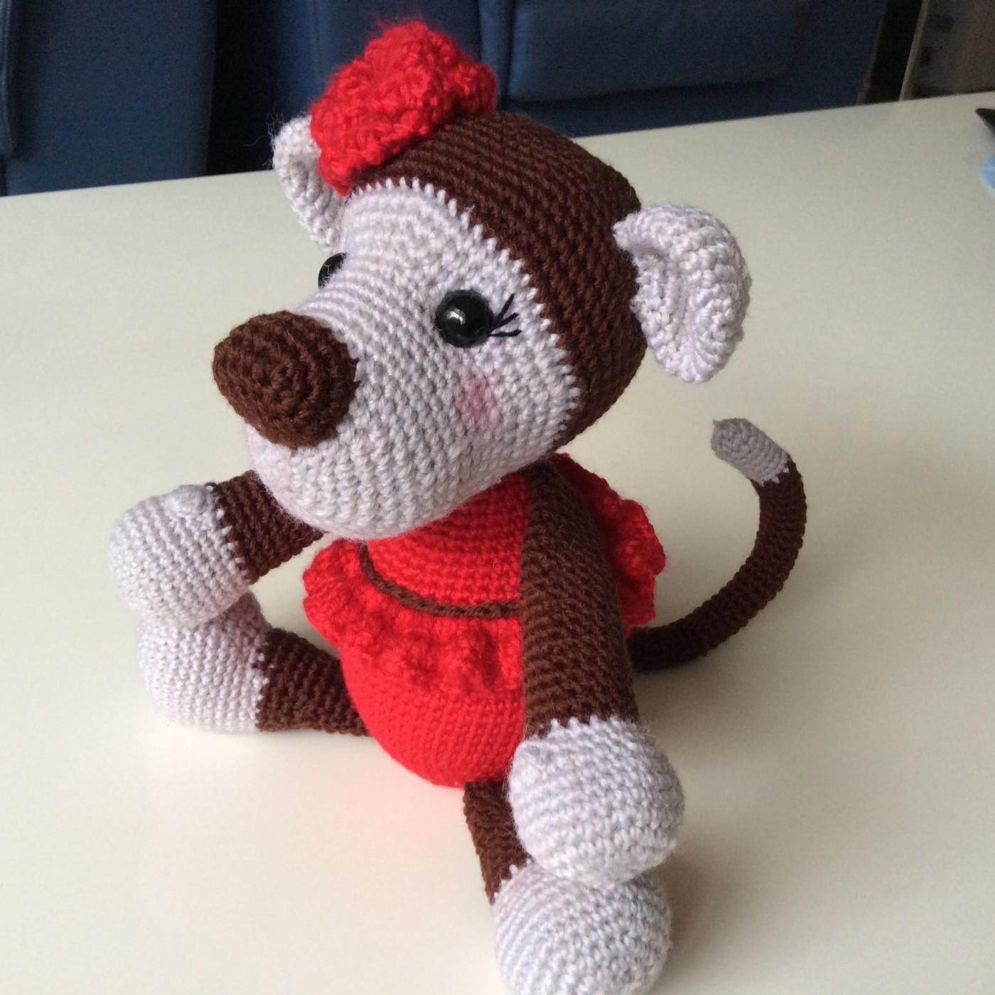 Monkey Crochet Crochet doll rattle Amigurumi|doll rattle|monkey ... | 1400x1400