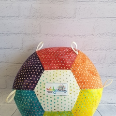 Balloon Ball: Unique Rainbow Batik Taggie.