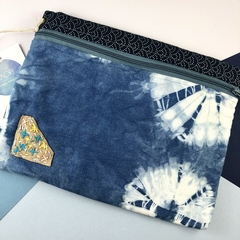 Handmade Kimono fabric makeup bag or pencil case