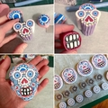 Statement earrings, Handcrafted polymer clay, calavera sugar skulls, Halloween