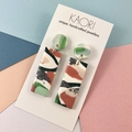 Polymer clay earrings, statment earrings in mint green, peach and white
