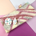 Glasses / sunnies case - kimono fabric with detachable handcrafted brooch