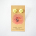 Yellow polymer clay stud earrings