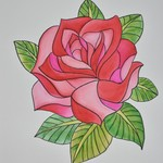 single rose coloured