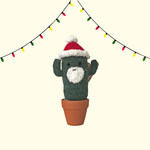 Crochet Santa Cactus with Santa Sack