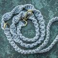 Vintage Denim Macramé Dog Lead/Leash