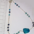 Sea sediment jasper, Chalcedony and Apatite necklace