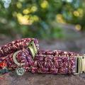 Mulberry Shine Metallic Macramé Dog Collar