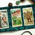 Handcrafted Tarot Card Drawstring Bag Green Lenormand Card Holder