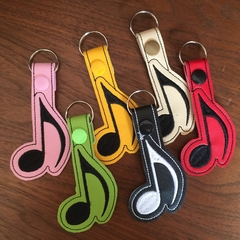 """Music Note"" Key Fob/Zipper Pull"