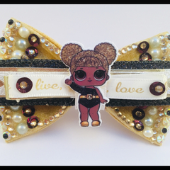 LOL Surprise Doll, Queen Bee, Hair Bow comes as a beautiful hair tie elastic