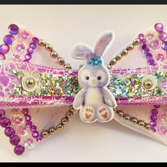 Pastel Purple Bunny Hair Bow comes as a beautiful hair tie elastic