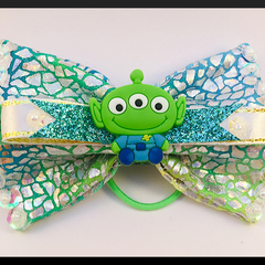 Toy Alien, from the movie Toy Story, Hair Bow ELASTIC.