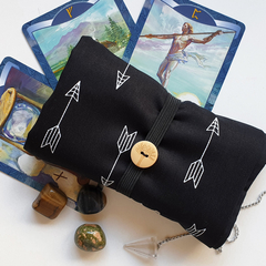 Black Tarot Reading Cloth - Oracle Card Holder