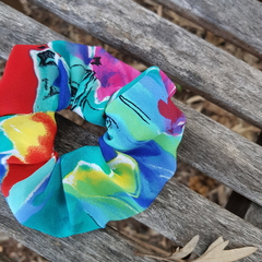 Galvins Road Print Devonport Scrunchie.