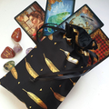 Tarot Reading Mat - Divination ClothMade in AustraliaBlack and Gold