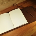 Personalized Leather Journal. Custom Handmade Diary, Book A5 Art. scrapbook boy
