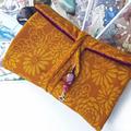 Red Velvet Tarot Bag and Reading Cloth - Lenormand Card Holder
