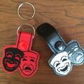 """""""Theatre Masks"""" Key Fob/Zipper Pull"""