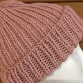 Pink merino beanie, pink beanie, pink ladies beanie, Mens hat knitted pink