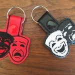 """Theatre Masks"" Key Fob/Zipper Pull"