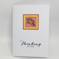 Thinking of You Card - Cross Stitch Butterfly/Flower Pot