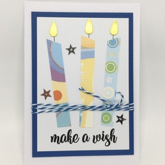 Birthday card - Large Candles