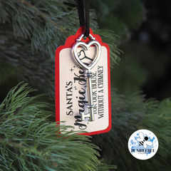 Santa's Magic Silver Key - for our house with no Chimney