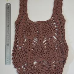 Reusable Grocery Bag, Crochet Cotton Tote bag, Farmers Market Bag, Cotton String