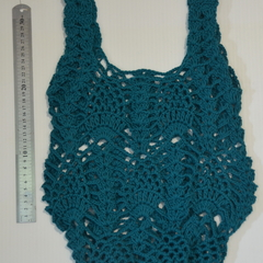 Reusable Grocery Bag, Crochet Cotton Tote bag, Farmers Market Bag, Cotton String