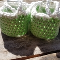 """crochet baby shoes """"dancing feet"""" cotton and acrylic yarns 12-13cm foot"""