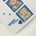Birthday Card - Teddy Trio on Turquoise