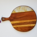 Resin art round cheeseboards