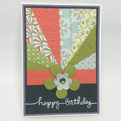 Birthday Card - Sunburst Coral